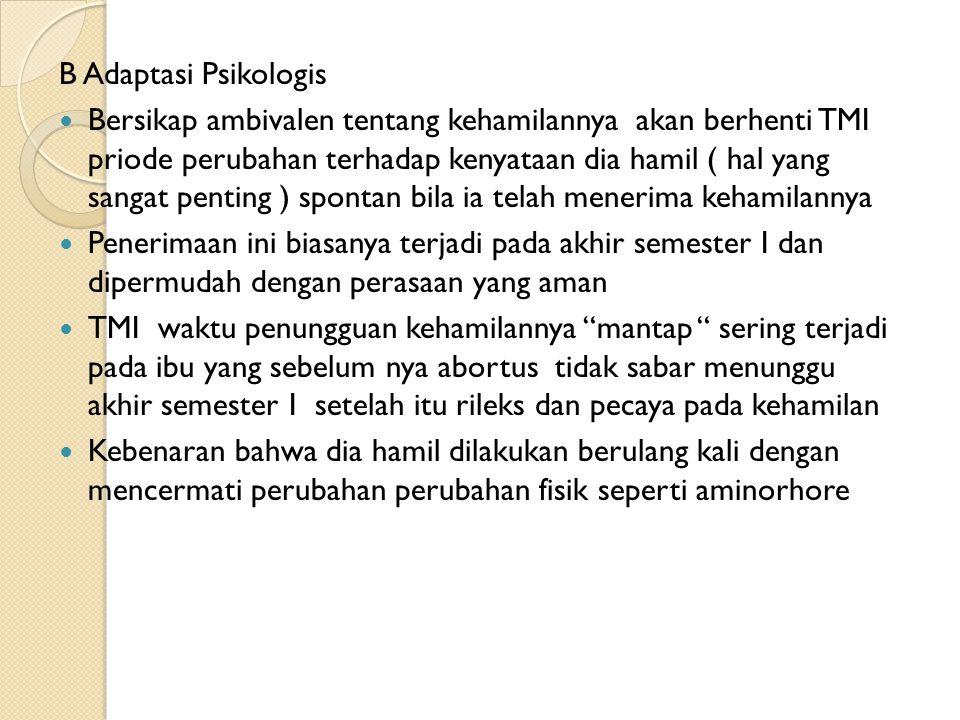 B Adaptasi Psikologis