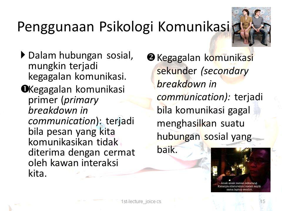 Penggunaan Psikologi Komunikasi