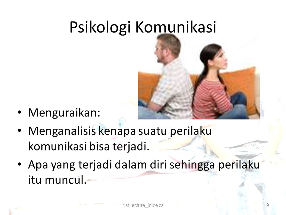 Psikologi Komunikasi Menguraikan: