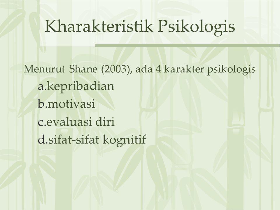 Kharakteristik Psikologis