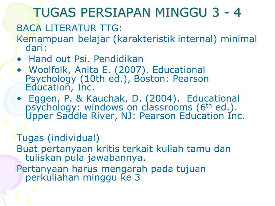 TUGAS PERSIAPAN MINGGU 3 - 4