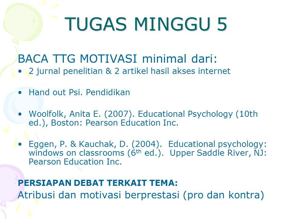 TUGAS MINGGU 5 BACA TTG MOTIVASI minimal dari:
