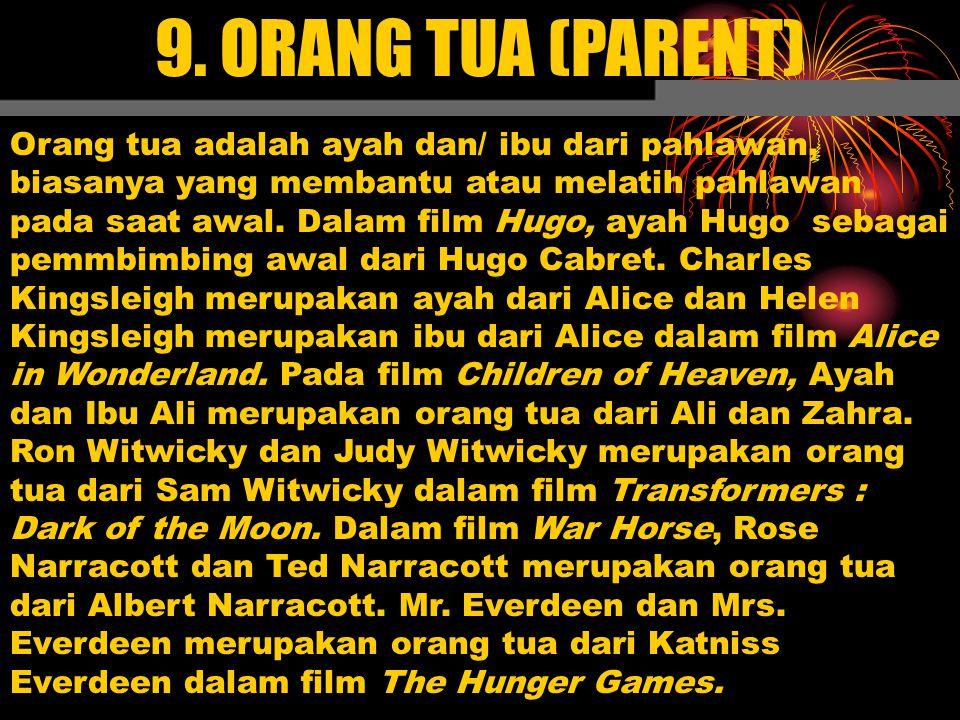 9. ORANG TUA (PARENT)
