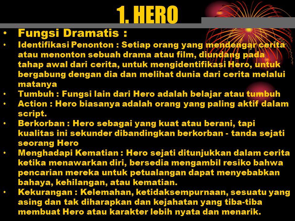 1. HERO Fungsi Dramatis :