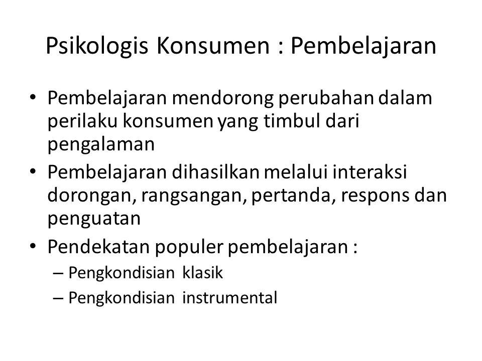 Psikologis Konsumen : Pembelajaran