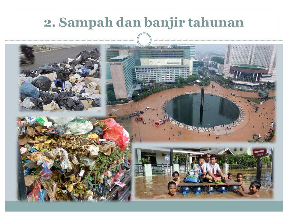 2. Sampah dan banjir tahunan