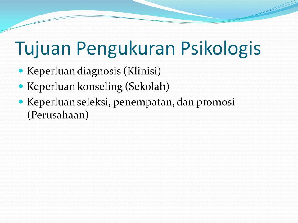 Tujuan Pengukuran Psikologis
