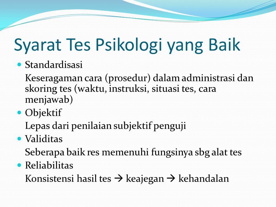 Syarat Tes Psikologi yang Baik