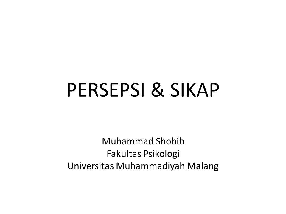 Muhammad Shohib Fakultas Psikologi Universitas Muhammadiyah Malang