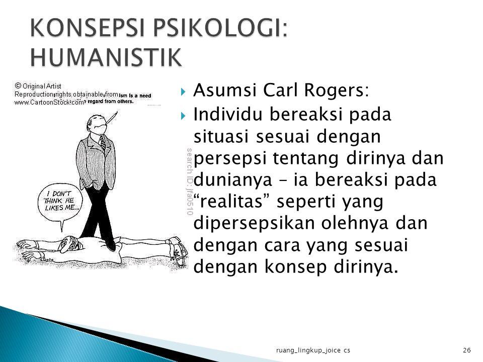 KONSEPSI PSIKOLOGI: HUMANISTIK