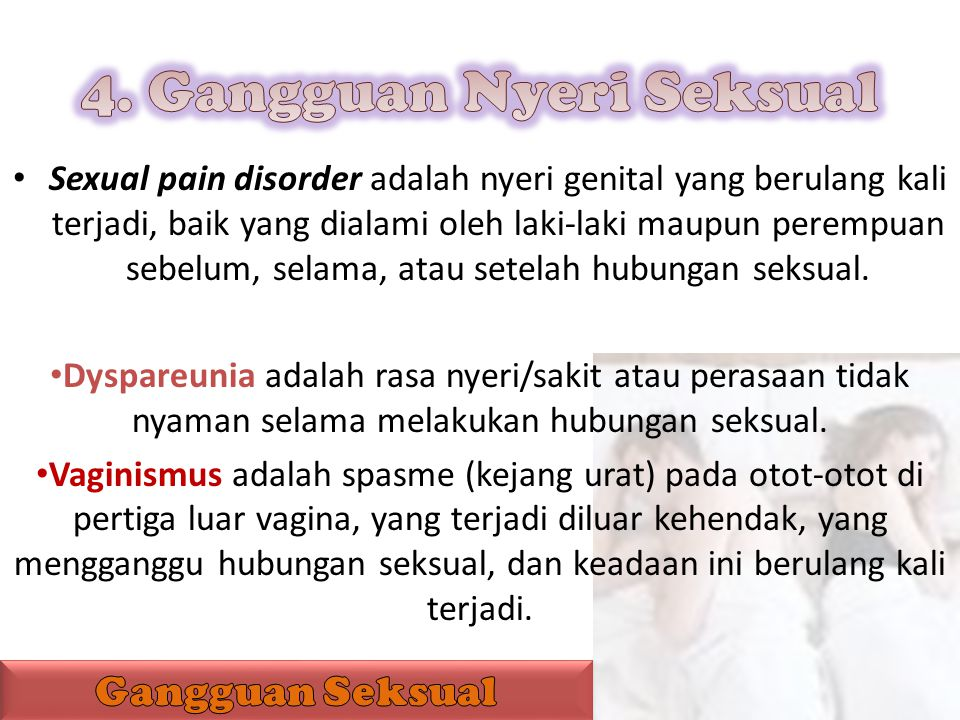 4. Gangguan Nyeri Seksual