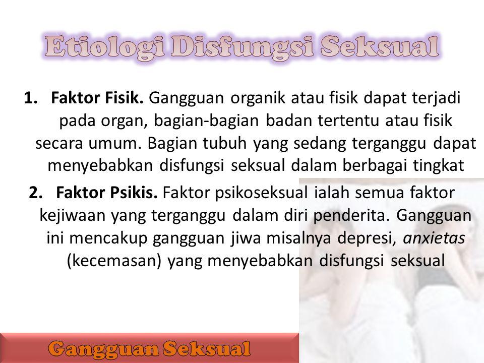 Etiologi Disfungsi Seksual