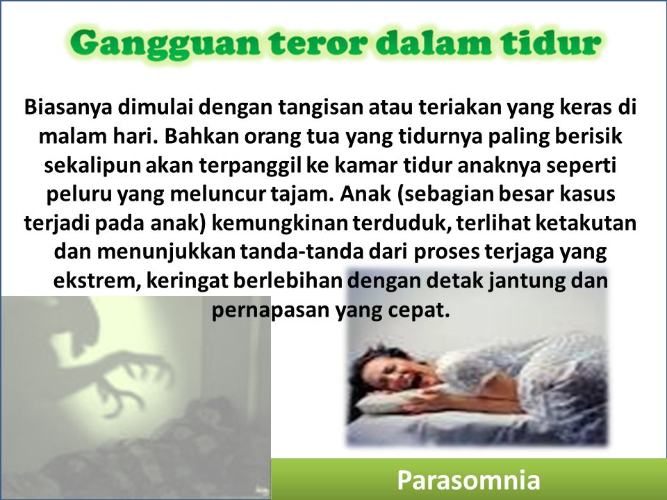 Gangguan teror dalam tidur
