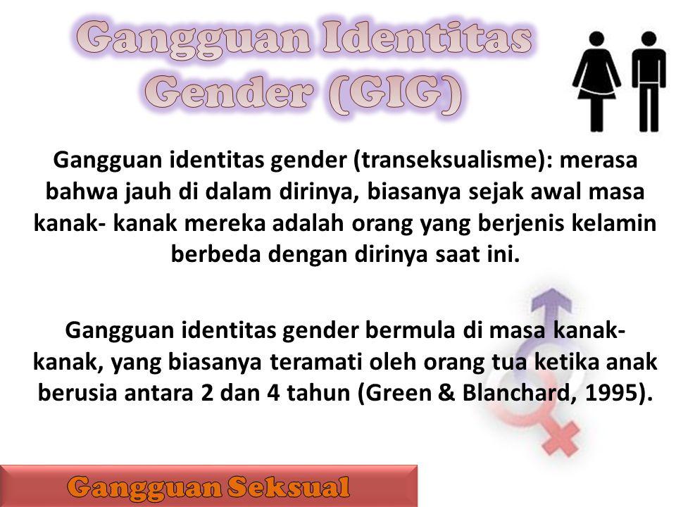 Gangguan Identitas Gender (GIG)