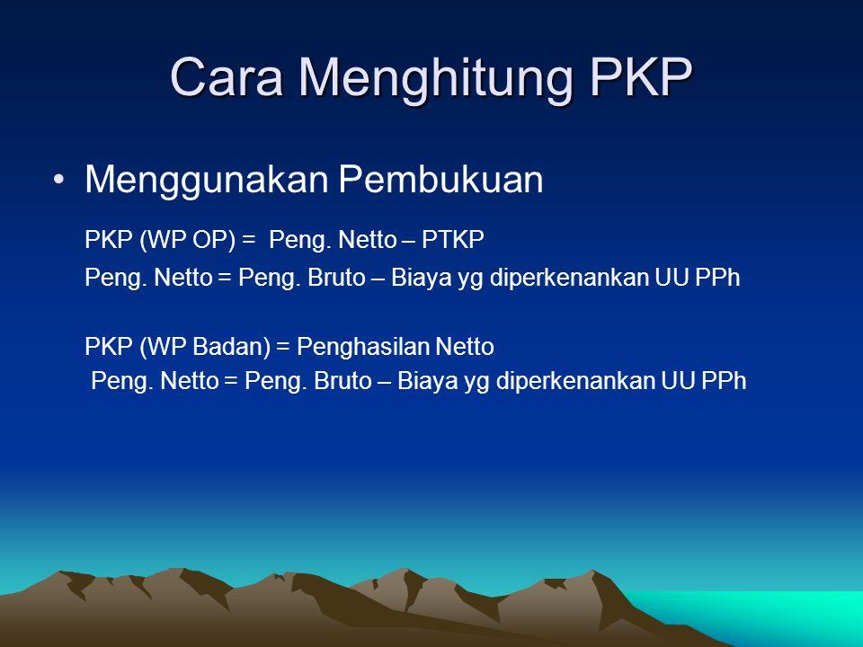 Cara Menghitung PKP Menggunakan Pembukuan