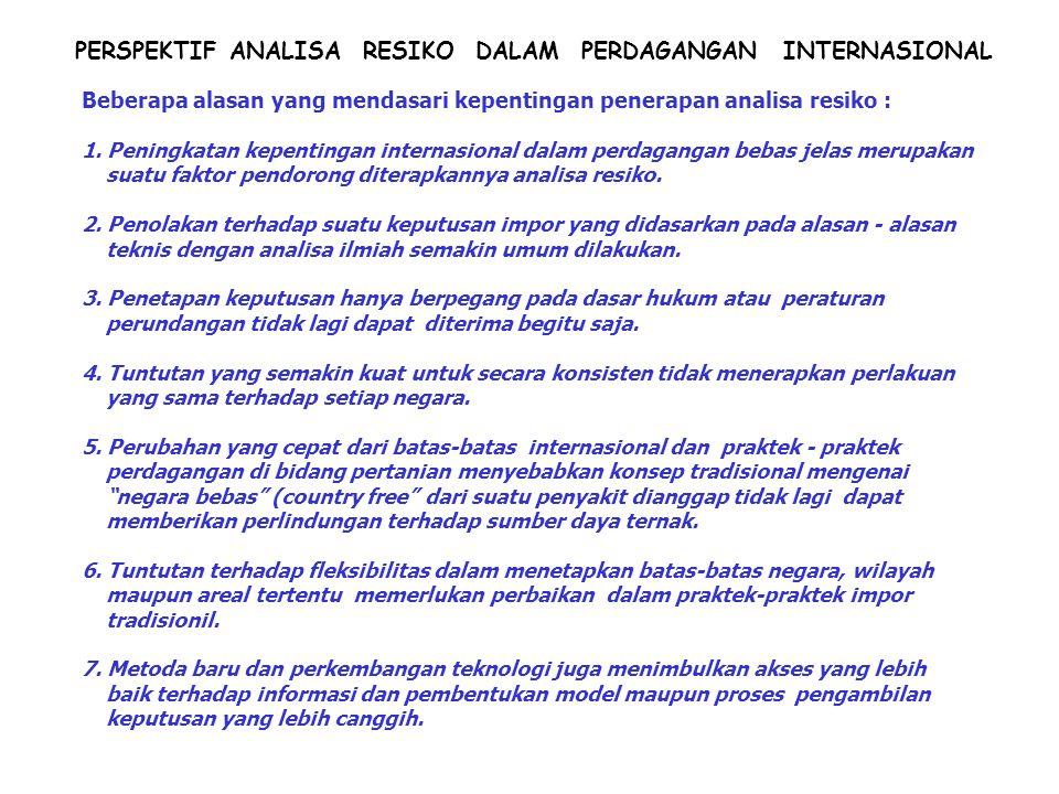 PERSPEKTIF ANALISA RESIKO DALAM PERDAGANGAN INTERNASIONAL
