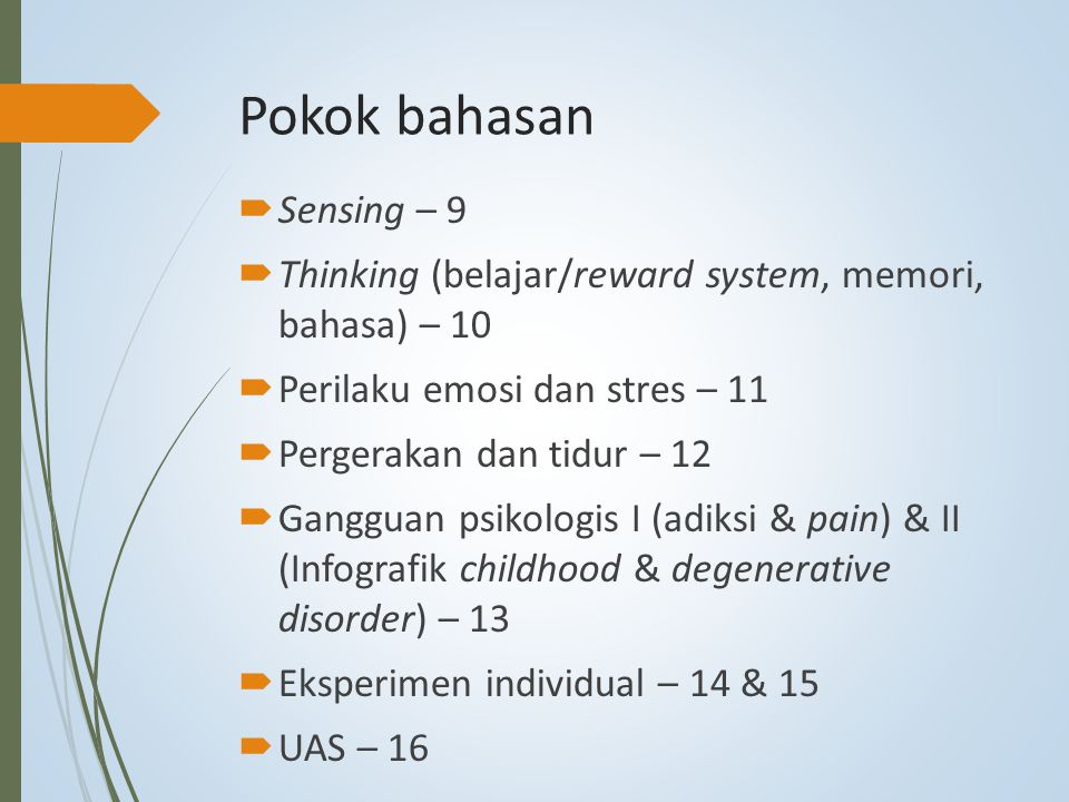 Pokok bahasan Sensing – 9