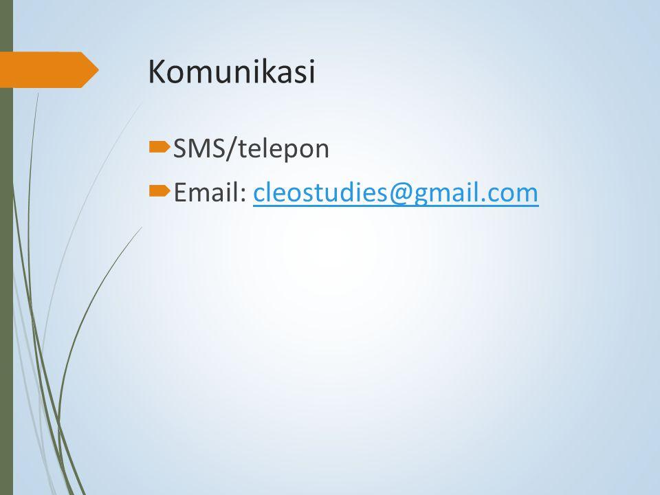 Komunikasi SMS/telepon