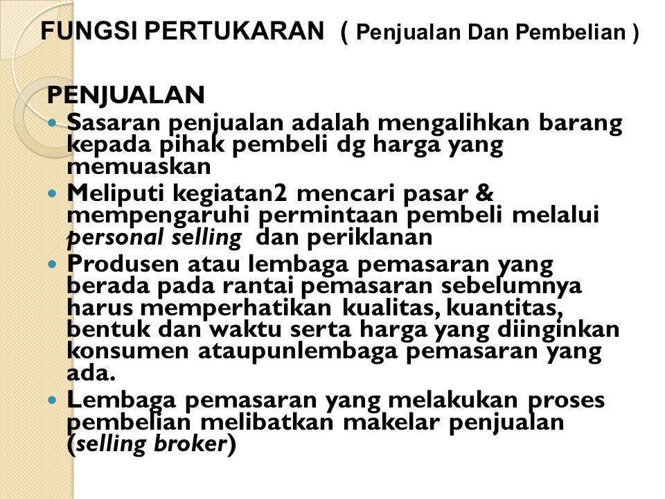 FUNGSI PERTUKARAN ( Penjualan Dan Pembelian )
