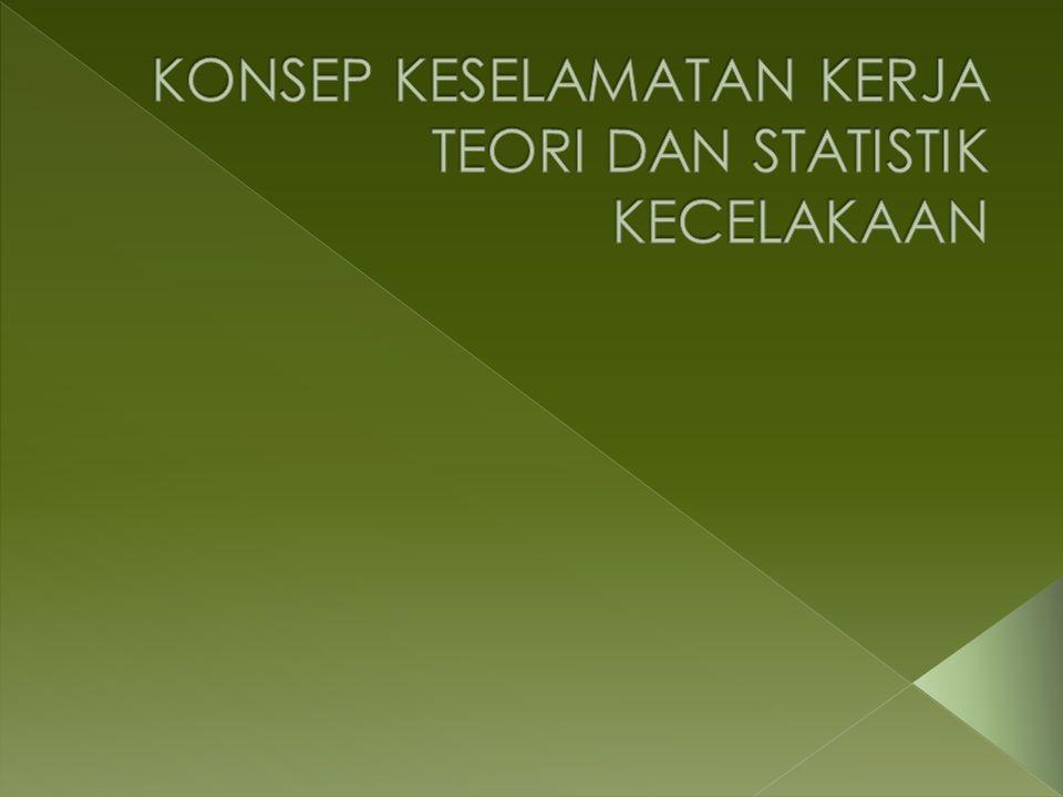 KONSEP KESELAMATAN KERJA TEORI DAN STATISTIK KECELAKAAN