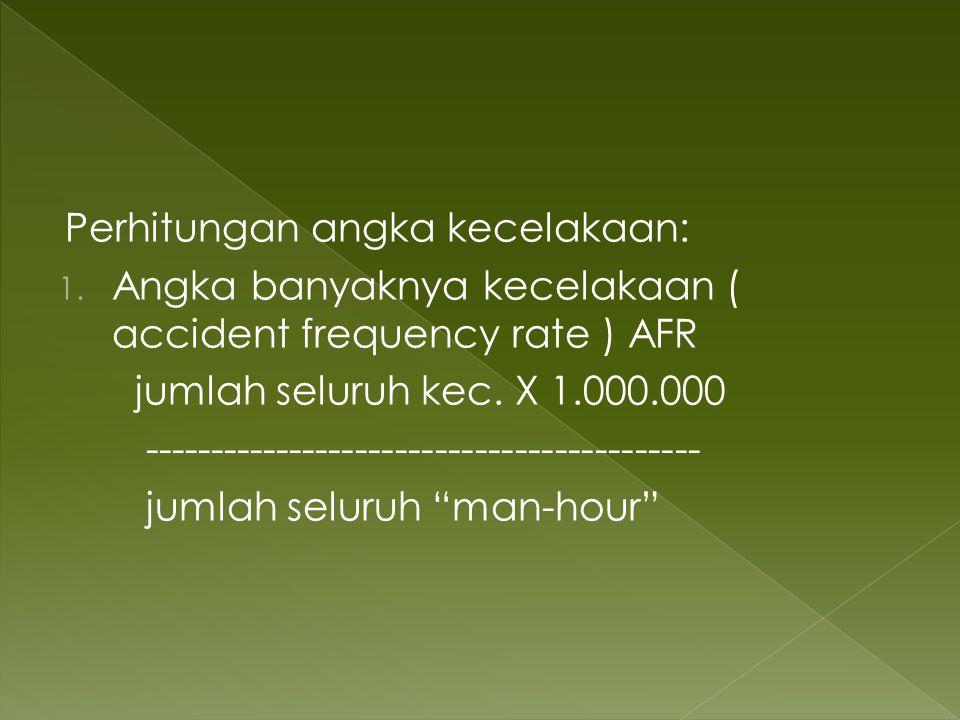 Perhitungan angka kecelakaan: