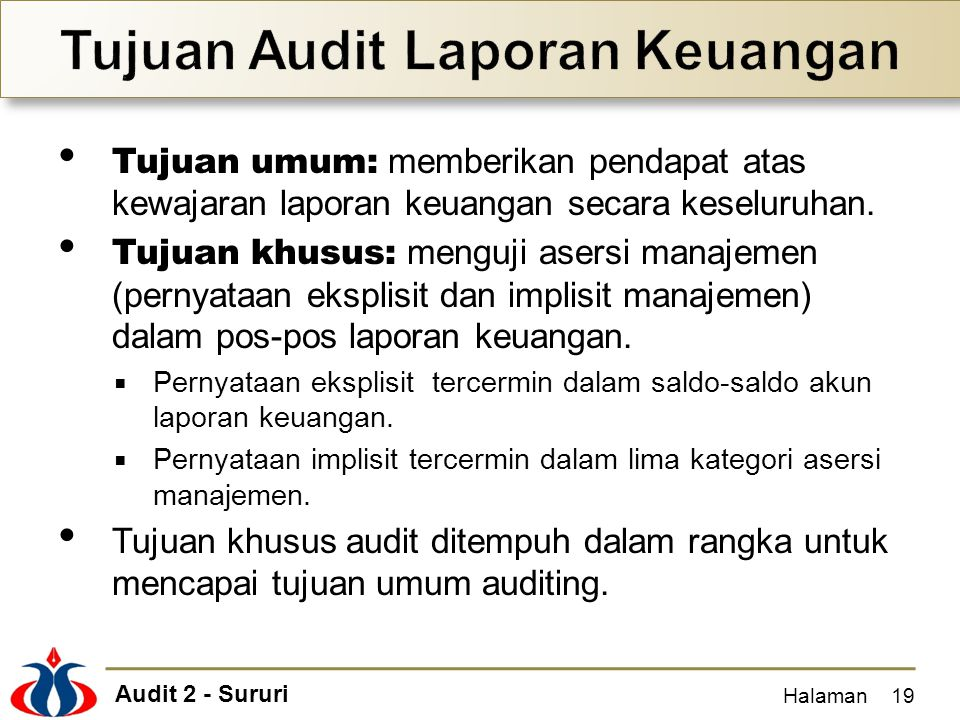 Tujuan Audit Laporan Keuangan