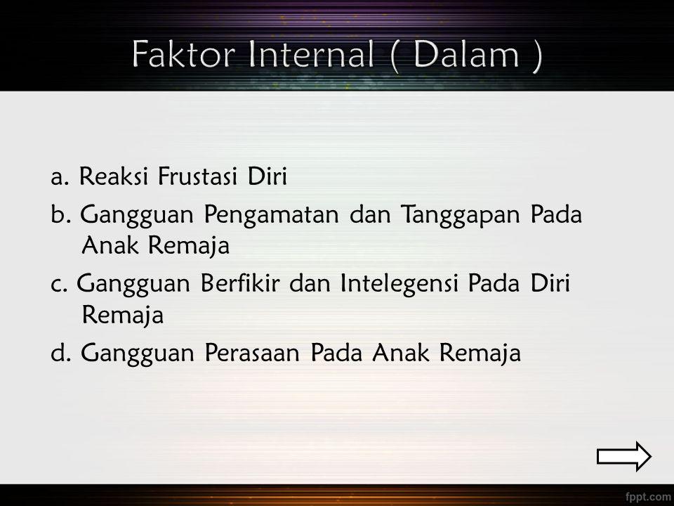 Faktor Internal ( Dalam )