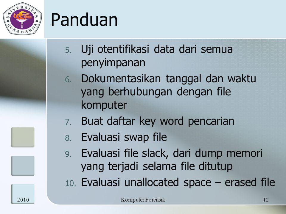 Panduan Uji otentifikasi data dari semua penyimpanan