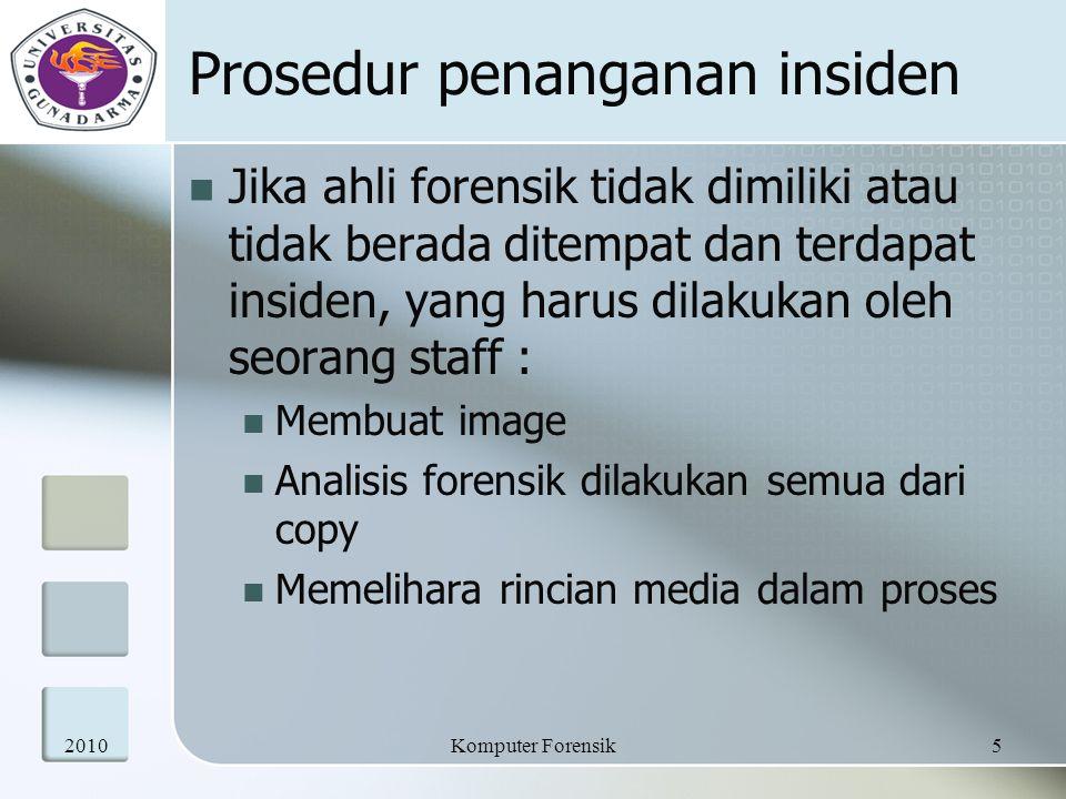 Prosedur penanganan insiden