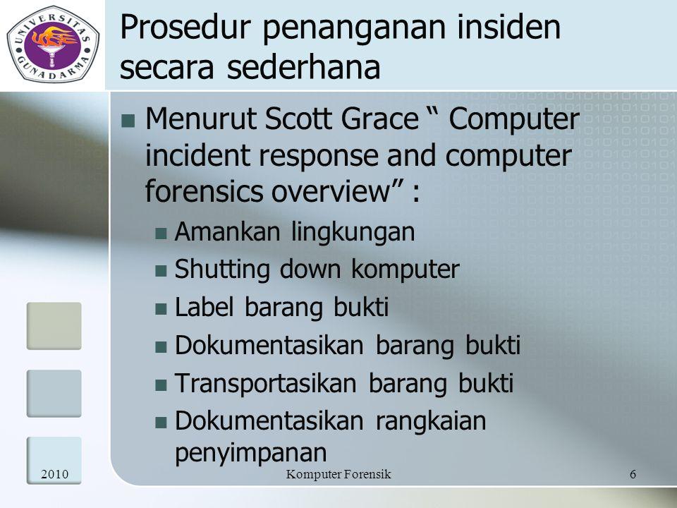 Prosedur penanganan insiden secara sederhana