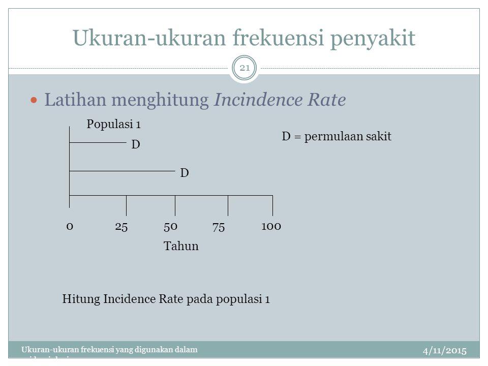 Ukuran-ukuran frekuensi penyakit