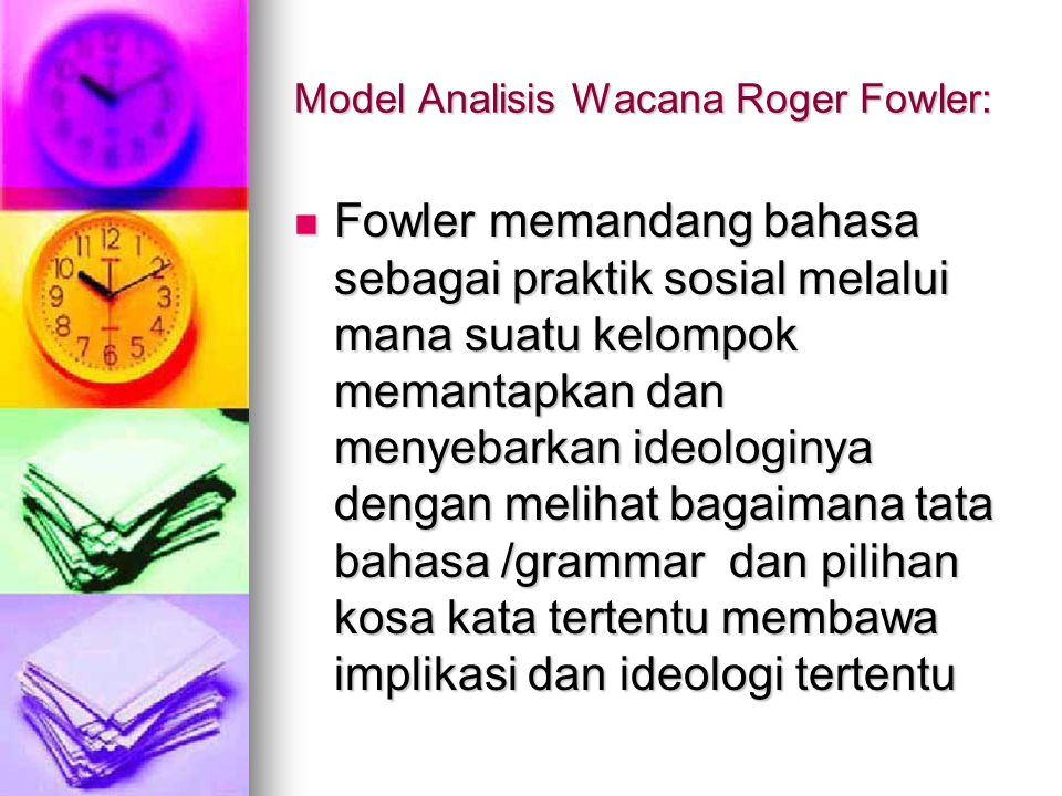Model Analisis Wacana Roger Fowler:
