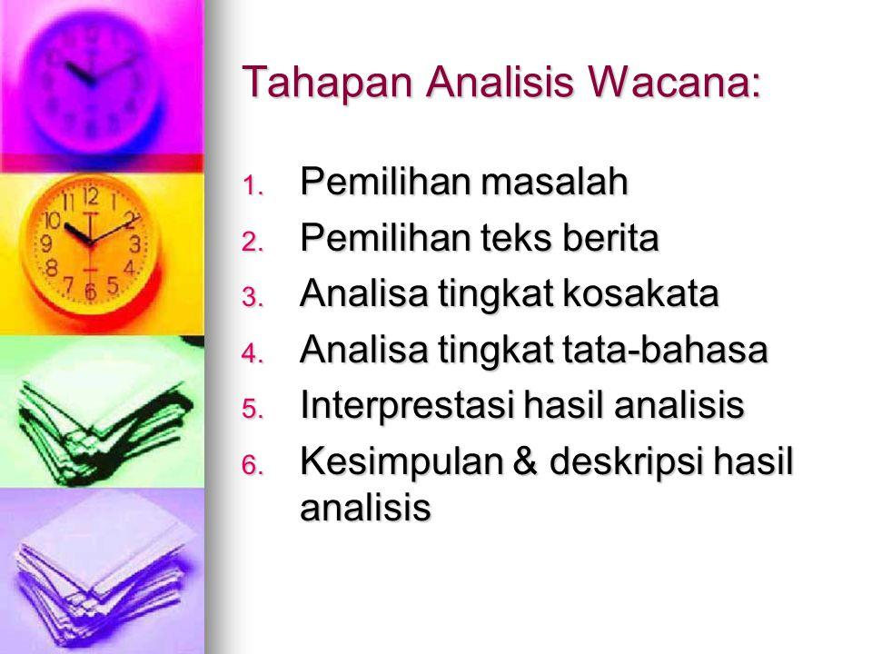 Tahapan Analisis Wacana: