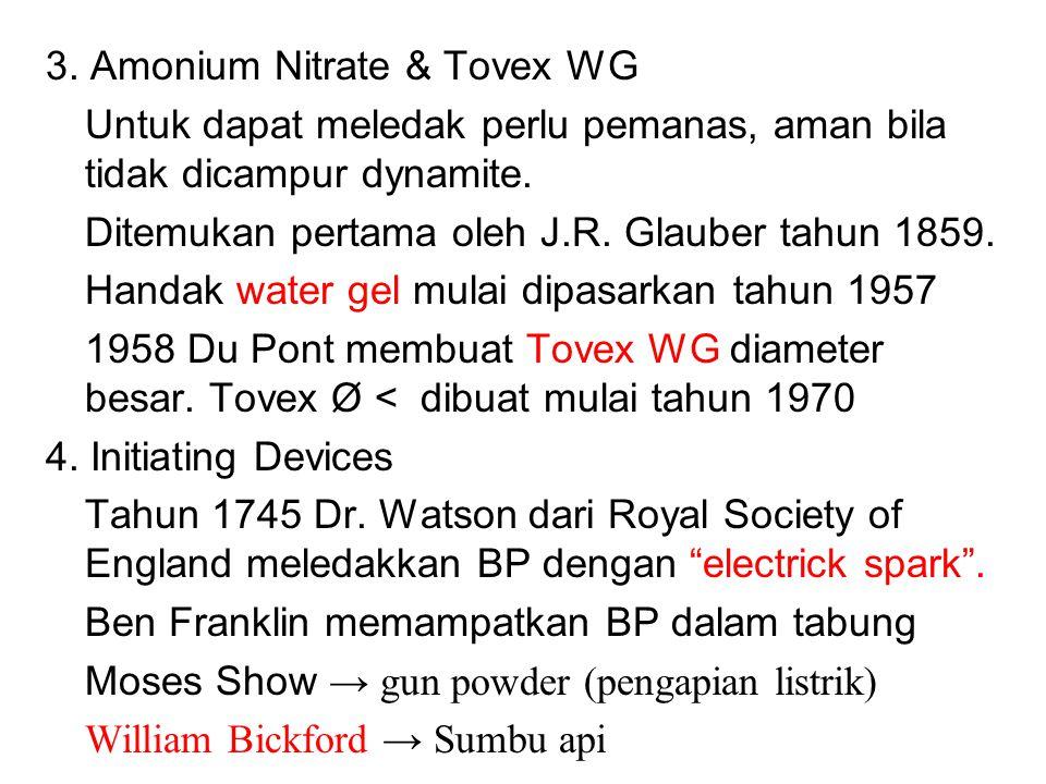 3. Amonium Nitrate & Tovex WG