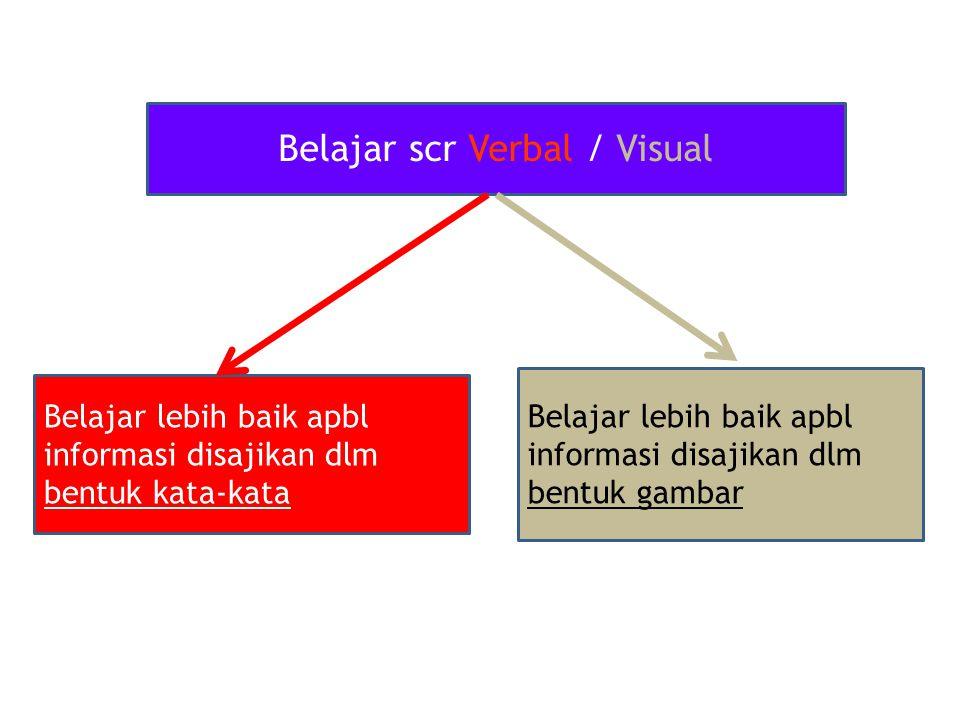 Belajar scr Verbal / Visual