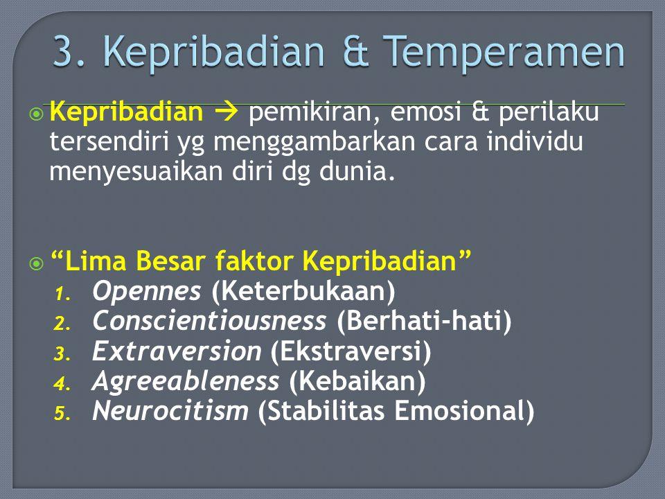 3. Kepribadian & Temperamen
