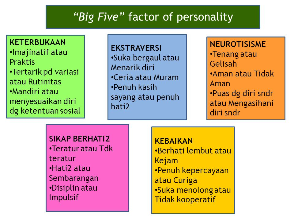 Big Five factor of personality