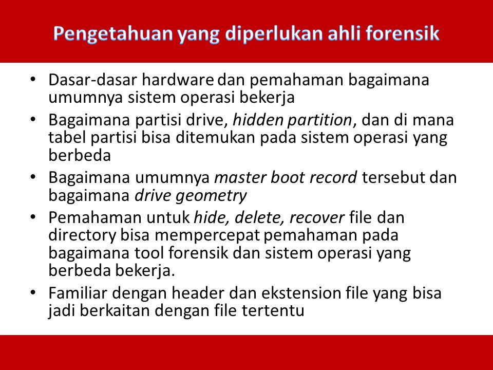 Pengetahuan yang diperlukan ahli forensik