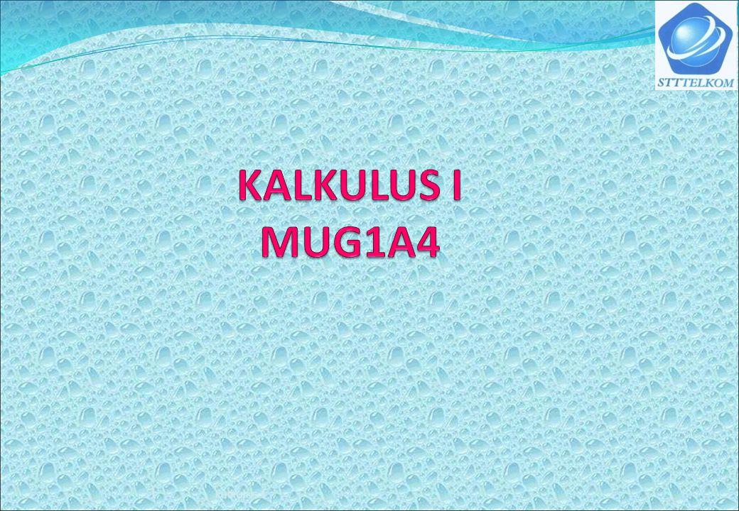 KALKULUS I MUG1A4 kalkulus 1