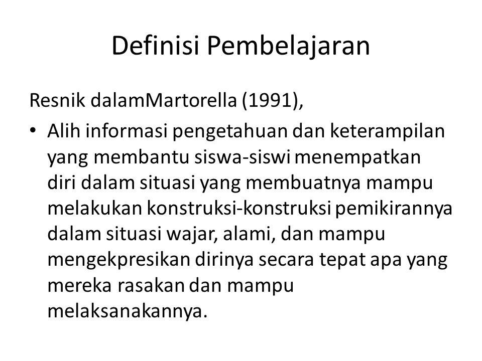 Definisi Pembelajaran