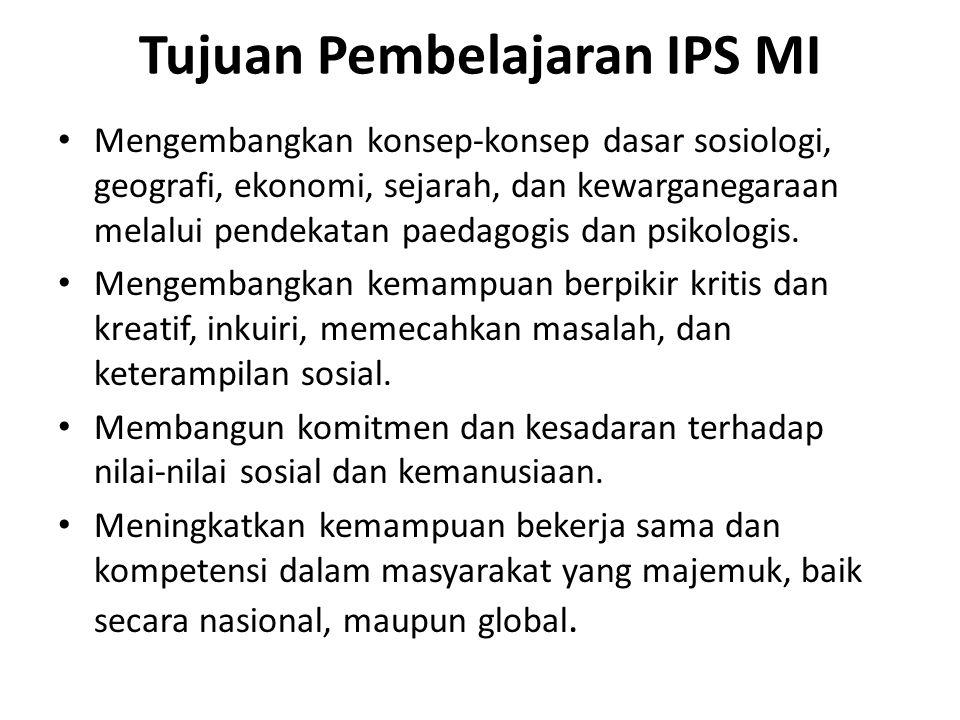 Tujuan Pembelajaran IPS MI