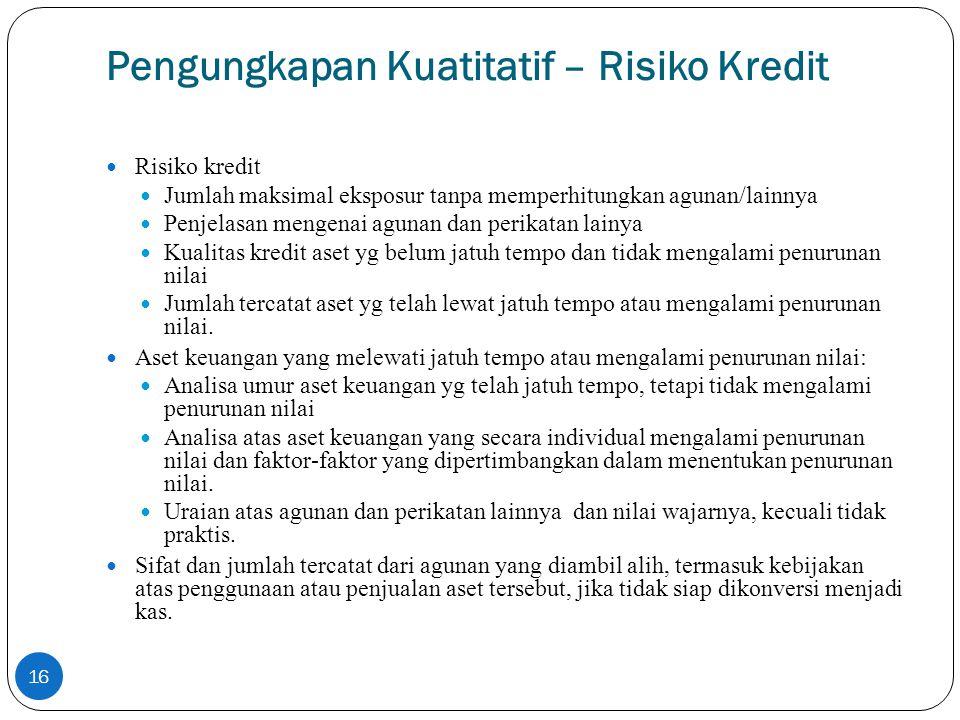Pengungkapan Kuatitatif – Risiko Kredit