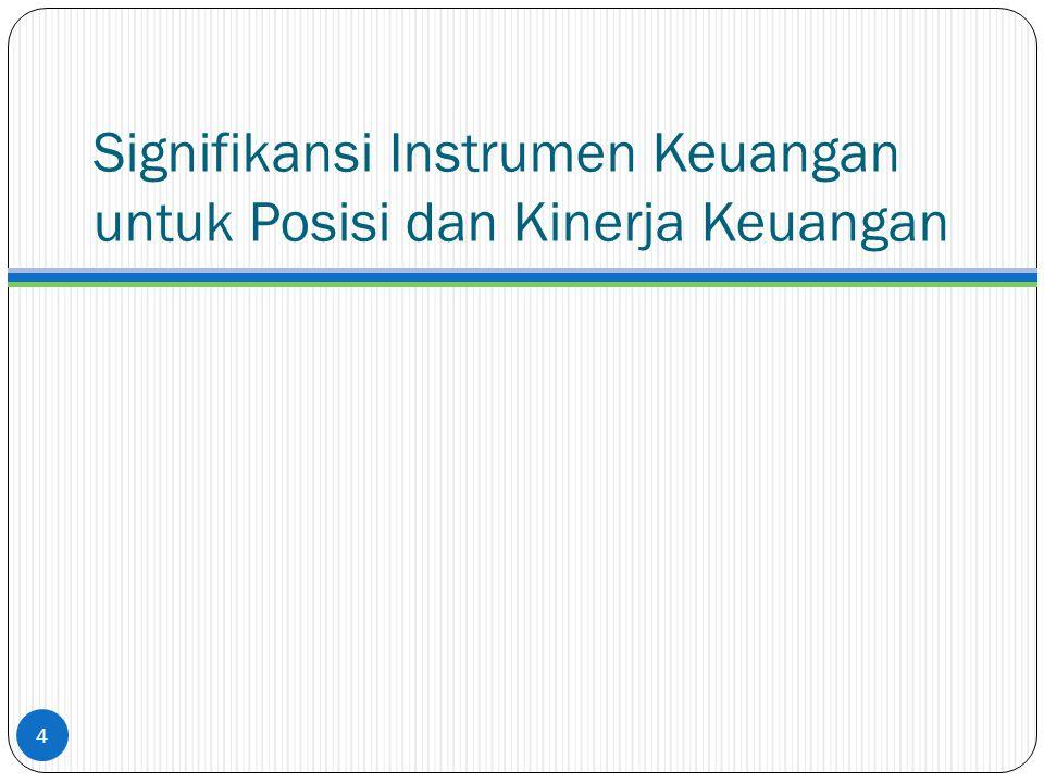 Signifikansi Instrumen Keuangan untuk Posisi dan Kinerja Keuangan
