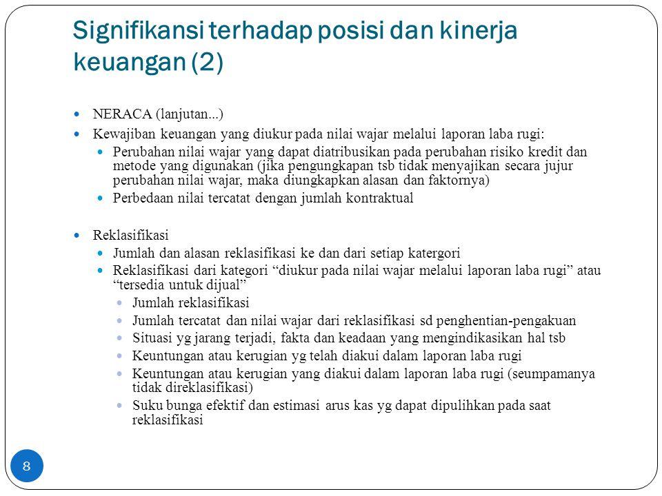 Signifikansi terhadap posisi dan kinerja keuangan (2)