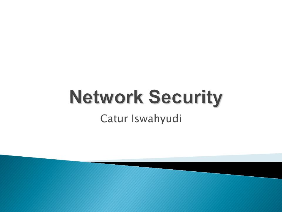 Network Security Catur Iswahyudi