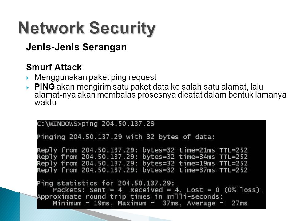 Network Security Jenis-Jenis Serangan Smurf Attack
