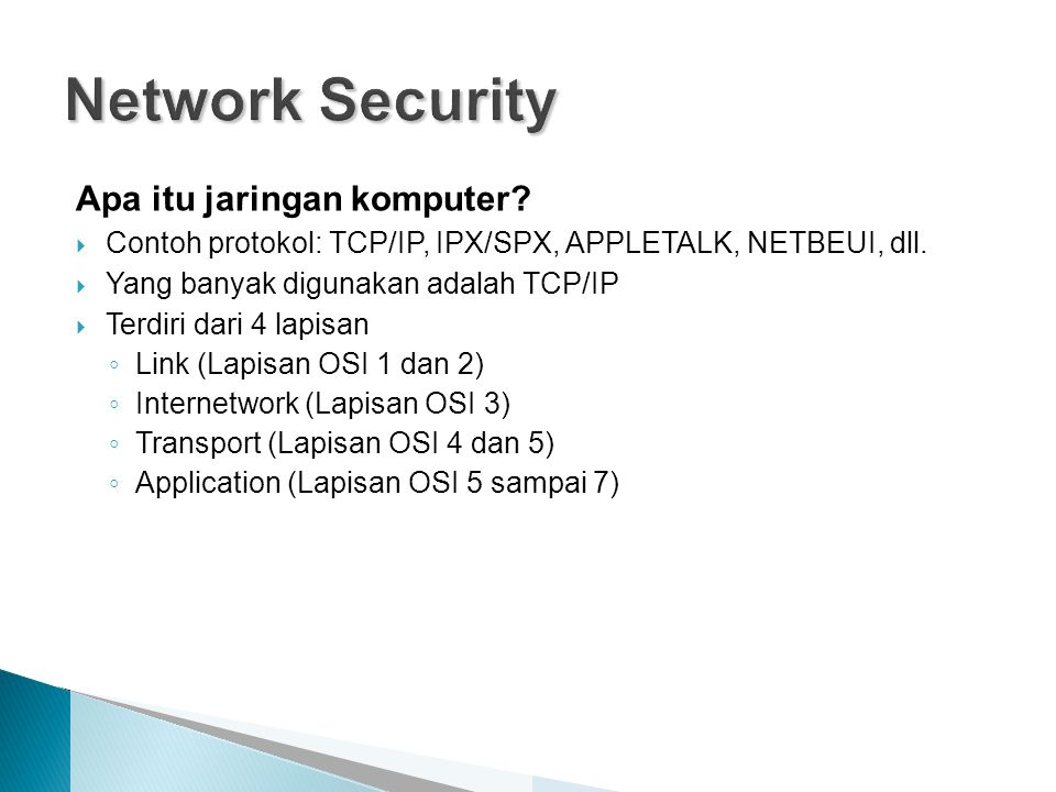 Network Security Apa itu jaringan komputer