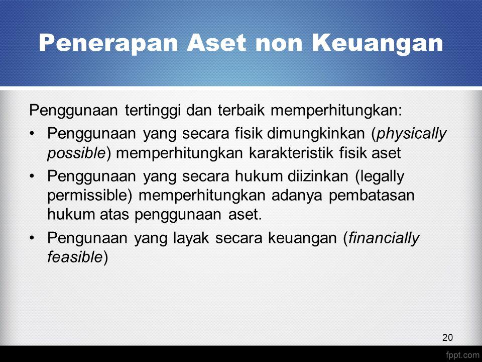 Penerapan Aset non Keuangan