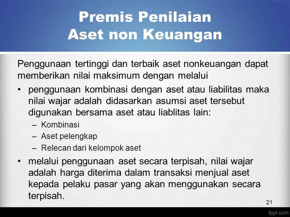 Premis Penilaian Aset non Keuangan