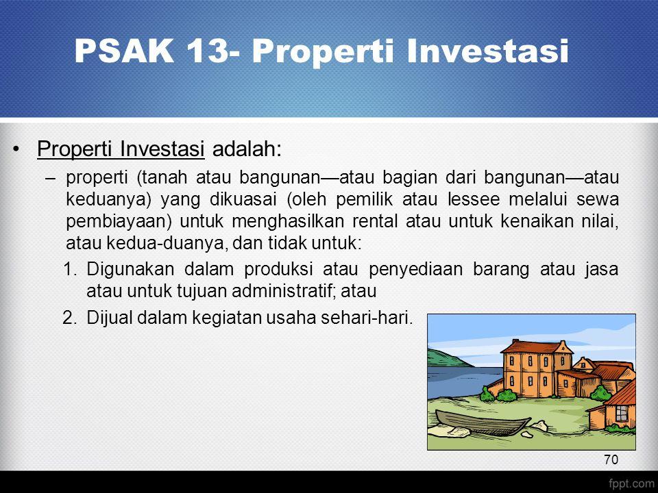 PSAK 13- Properti Investasi